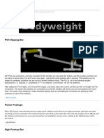 Bodyweight Training Tools