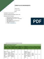 Informe Plan de Mejoramiento