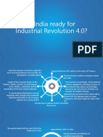 Is India Ready for Industrial Revolution 4