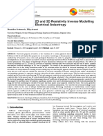 Inadequacy of 1D 2D and 3D Resistivity I