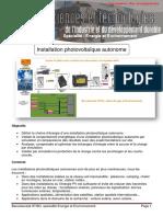 Installation Photovoltaique Autonome EE2 3