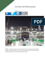 4 Langkah Tetap Sehat Saat Melaksanakan Ibadah Haji