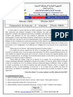 Examen Et Corrige Francais 3ASL T2 2017