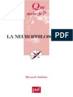 La neurophilosophie - Bernard Andrieu.epub