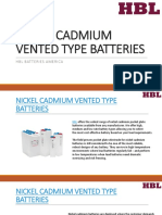 Nickel Cadmium Vented Type Batteries - HBL America