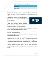 HTML Document Tables