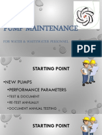 Pump Maintenance - Colston