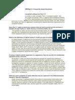 21 CFR Part 11 FAQs