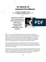 Alan P Rossiter's 8 Aspects of Proffessional Excellence