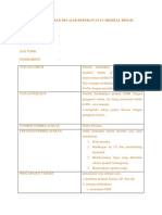 Format Kontrak Belajar Keperawatan Medikal Bedah