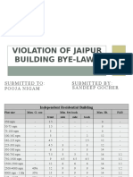 Violation of Jaipur Building Bye-Laws Exercise by Sandeep_gocher