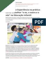 Campos de Experiencia Na Pratica Como Trabalhar o Eu o Outro e o Nos Na Educacao Infantilpdf