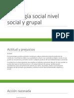 Psicología Social Nivel Social y Grupal