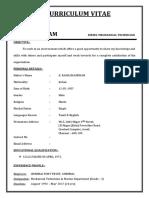 Sambandam Resume