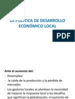 La Política de Desarrollo Económico Local