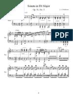 sonata in eb - score
