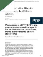 Montoneros y el PRT-ERP