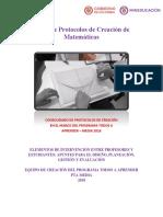 Libro de Protocolos de Creación de Matemáticas
