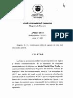 Sentencia AP3633-2018(52271)