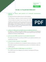 PREGUNTAS DEL 1er TALLER NOCTURNO 2019