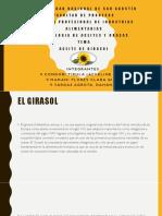 El Aceite de Girasol y Procesos