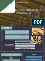Elementos Estructurales en Madera