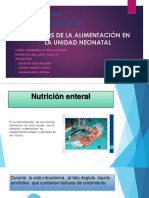 Aspecots Nutricionales Del Prematuro