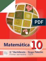 Indice 4.1 Libro Polochic Matematica 1er Sem
