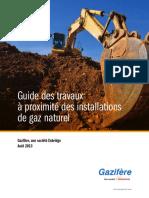 Guide Des Travaux à Proximité Des Installations de Gaz Naturel