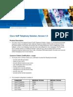 Cisco VoIP Telephony Solution v1.0