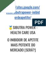 SIBUTRA POWER - HEALTH CARE USA O INIBIDOR DE APETITE MAIS POTENTE DO MERCADO [SERÁ?]