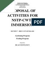 Proposal of Activity May 3
