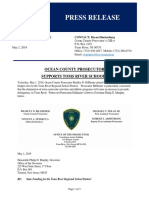 Ocean County Prosecutor Letter