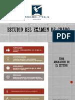 Derecho - ¿ Como planificar la preparacion del Examen de Grado ?