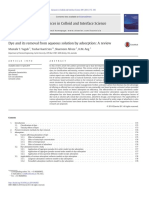 Dye and its removal from aqueous solution by adsorption