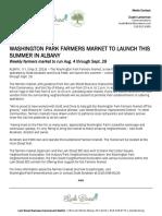 Washington Park Farmers Market to launch this summer