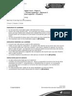 Spanish a Literature Paper 2 HL Spanish