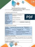 Guía de actividades y rúbrica de evaluación - Paso 2 - Analizar la Administración de Costos.docx