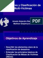 desastres y clasificacion de victimas
