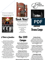 2019 drama camps