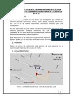 Aplicación de La Técnica de Observación Para Artículos de Aseo Personal en El Supermercado Hipermaxi de La Ciudad de El Alto