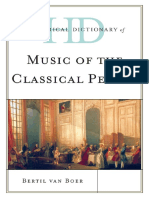 Historical Dictionary of Music of the Classical Period - Bertil van Boer