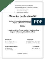 Analyse de la réponse statique et dynamique du pont à hauban Oued Dib MILA.pdf