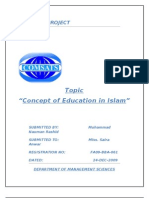 Islamic Concept of Education