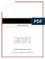 How to write Long Reports