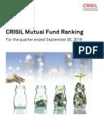 CRISIL Mutual Fund Ranking September 2018