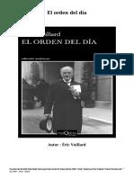 Descargar Libro Gratis El orden del día (PDF - ePub - Mobi} por Éric Vuillard
