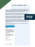 Administración de medicamentos y factor goteo