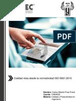 Calidad Vista Desde La Normatividad ISO 9001_2015