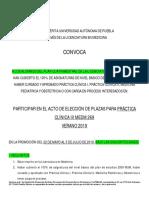 CONVOCATORIA PCIII Verano 2019 Nuevas Fechas